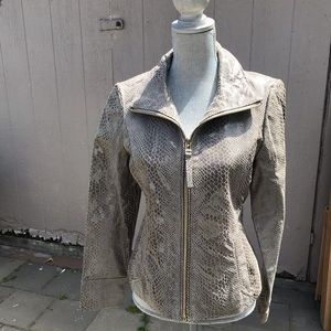 Via spiga  leather snake print jacket